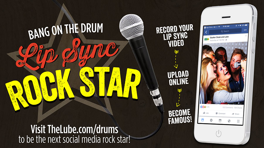 Be A Bangin' Drums! Lip Sync Rock Star!